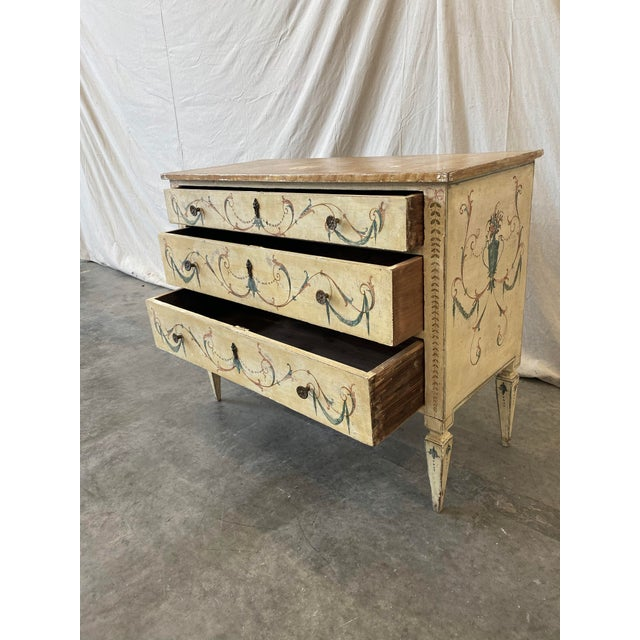 Late 19th Century Italian Commode With Hand Painted Designs - 19th C For Sale - Image 5 of 12