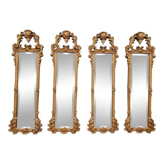 Vintage French Gilded Gold Mirrors - Set of 4 For Sale