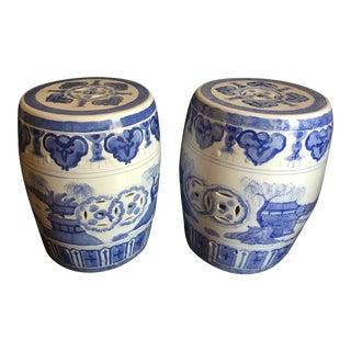 Chinese Garden Stools - Pair