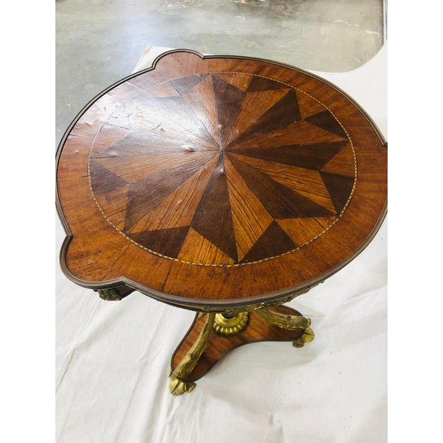 Early 20th Century Empire Style Side Table With Mounted Ormolu For Sale - Image 9 of 10