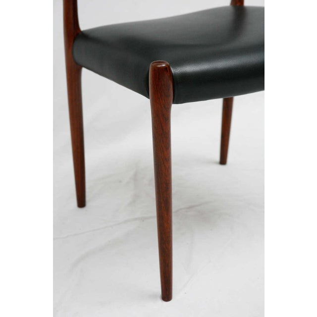 Niels Otto Møller Set Of 6 Rosewood Niels Moller Dining Chairs For Sale - Image 4 of 9
