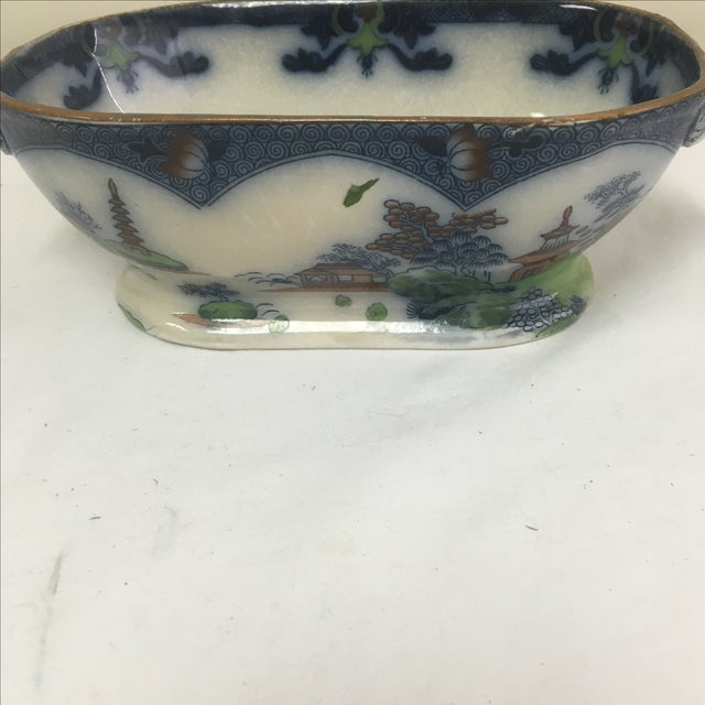 Spode Flow Blue & Polychrome Sauce Tureen - Image 6 of 9