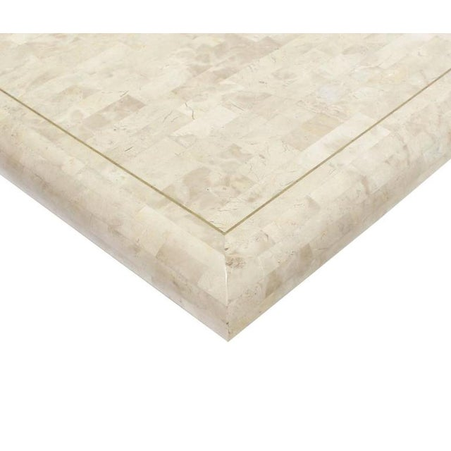 Maitland - Smith 1970s Minimalist Tessellated Stone Coffee Table For Sale - Image 4 of 6