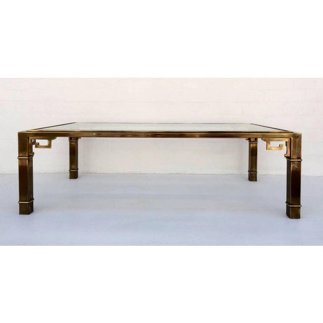 1970s Vintage Mastercraft Regency Style Brass Coffee Table For Sale - Image 9 of 10