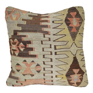 Small Kilim Pillow Cover, Home Design Decorative Pillow Cover 12'' X 12'' (30 X 30 Cm) For Sale