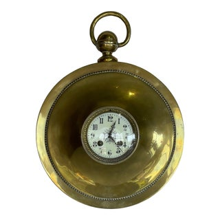 Early 19th Century French Brass Wall Clock For Sale