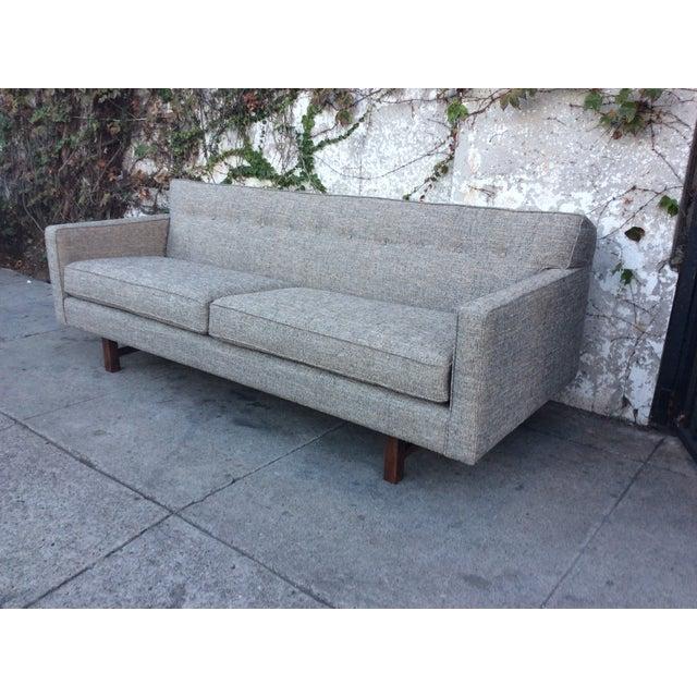 Mid Century Style Sofa: Gray Mid-Century Style Sofa