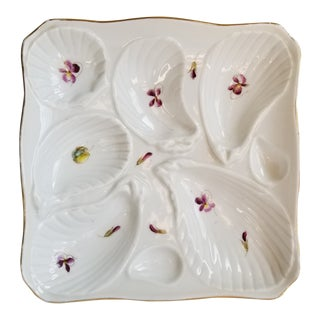 Antique Carlsbad China Oyster Plate For Sale