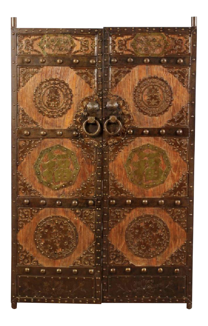 Chinese Temple Doors   A Pair
