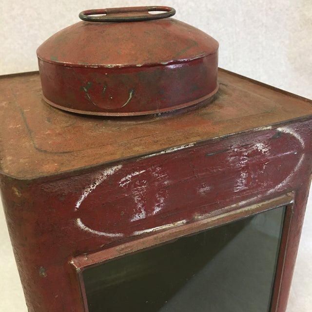 Antique Tin Container For Sale - Image 9 of 11