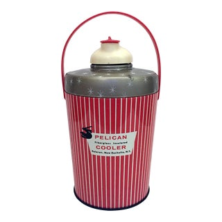 1950s Mid-Century Modern Red Pelican Wine Coolers For Sale