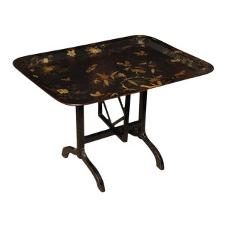 19th Century Papier Mache Tray Table For Sale