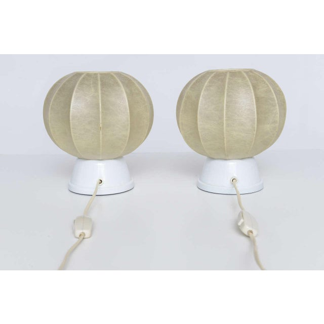 We love the subtle glow and sea urchin shape of these diminutive vintage German table lamps, modeled after George Nelson's...