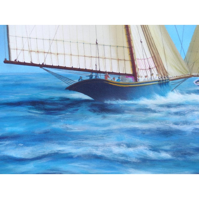 """Early 21st Century Argentine Artist Gabriel Duarte Nautical Painting """"New Bounty"""" For Sale - Image 5 of 11"""