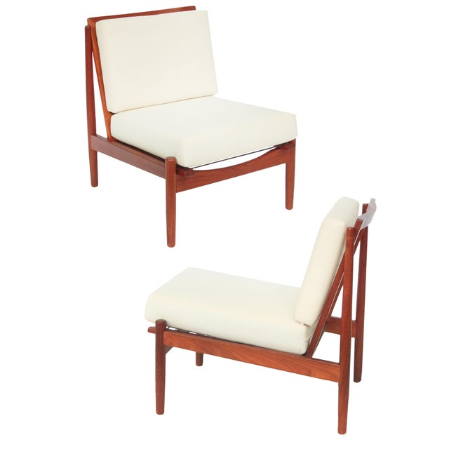 Mid-Century Danish Modern Slipper Chairs - a Pair For Sale - Image 13 of 13