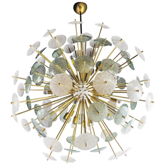 Contemporary Reworked Large Parasole Sputnik Chandelier For Sale