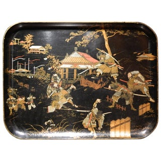 Chinoserie Papiere Mache Tray, 19th Century For Sale