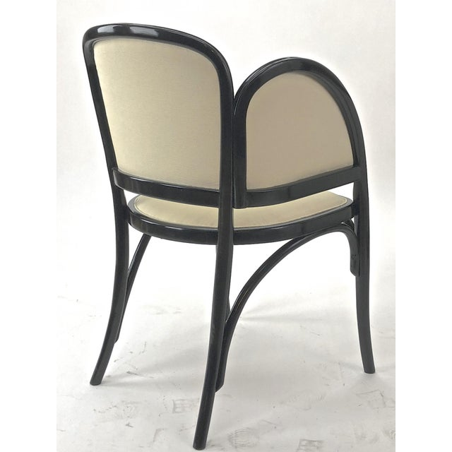 Maison Thonet Rare Set of Black Lacquered Bent Wood Five Pieces Set For Sale - Image 6 of 9