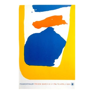 Helen Frankenthaler Rare 1965 1st Edition Abstract Expressionist Silkscreen Serigraph Print Exhibition Poster