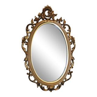 Hollywood Regency Gold Syroco Wall Mirror For Sale
