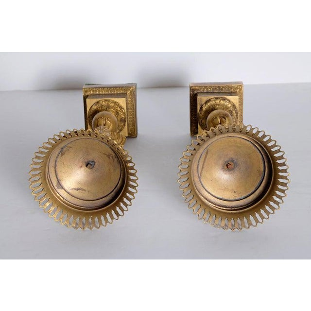 Early 19th Century Pair of French Empire Gilt Bronze Centerpiece Tazzzas For Sale - Image 12 of 13