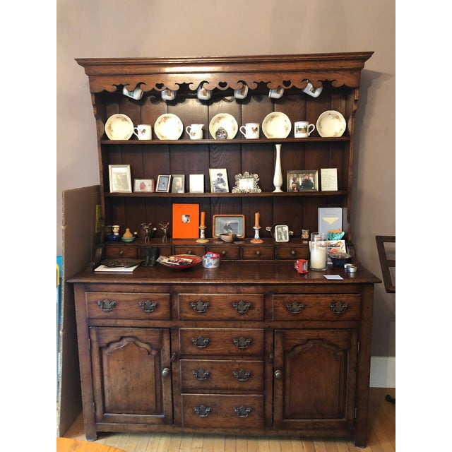 Traditional 1860s Traditional Welsh China Cabinet For Sale - Image 3 of 13
