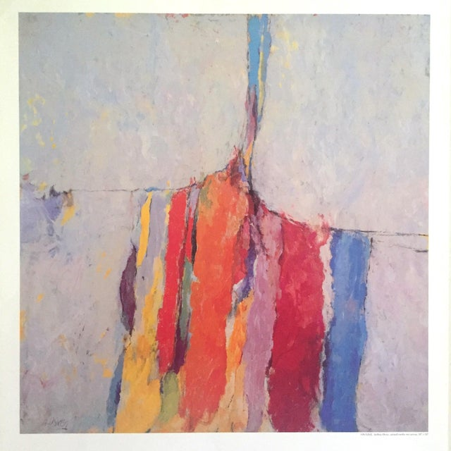 Various Artists Arthur Osver Vintage 1985 Abstract Expressionist Lithograph Print St. Louis Arts Festival Exhibition Poster For Sale - Image 4 of 13