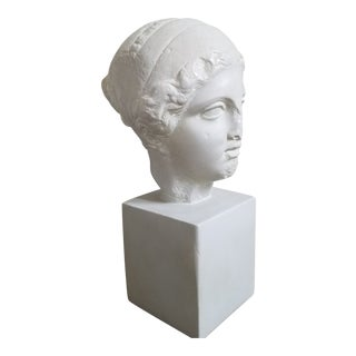 Vintage Neoclassical Roman Female Bust For Sale