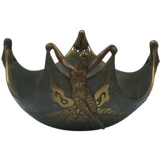 "Erté ""Ocean Bowl"" Bronze Sculpture For Sale"