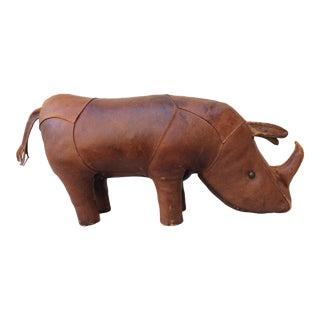 Mid Century Omersa Pigskin Leather Rhino Ottoman For Sale