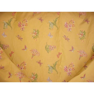 Traditional Kravet Couture 23590 Butterfly Fils Cupe Lampas Brocade Upholstery Fabric - 7-7/8y For Sale