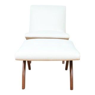 Milo Baughman Lounge Chair & Ottoman For Sale