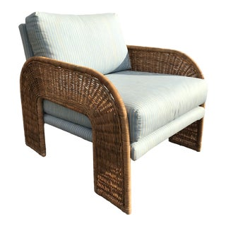 Adrian Pearsall for Comfort Designs Inc. Waterfall Wicker Chair For Sale