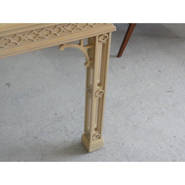Hollywood Regency Fretwork Dining Table - Image 5 of 11