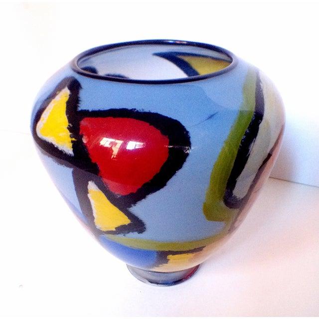 Handblown Faces Vase by Thor Bueno - Image 6 of 6