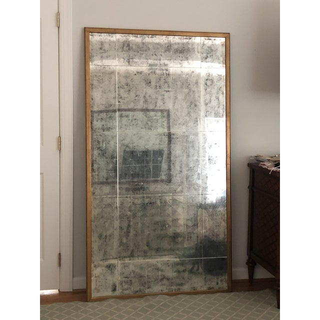 2000 - 2009 John Richard Gold Antiqued Mirror XL For Sale - Image 5 of 9