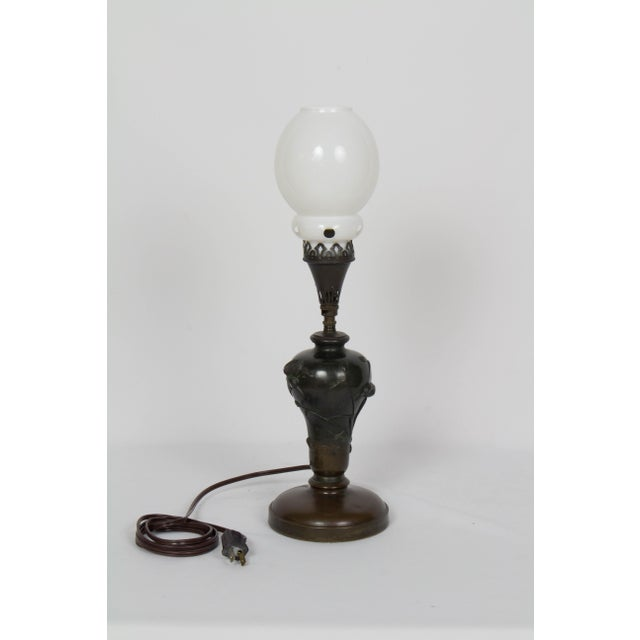 Mid 19th Century Vintage Meiji Japanese Bronze Gas Lamp For Sale In Boston - Image 6 of 12