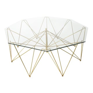 Sculptural Metal Coffee Table For Sale