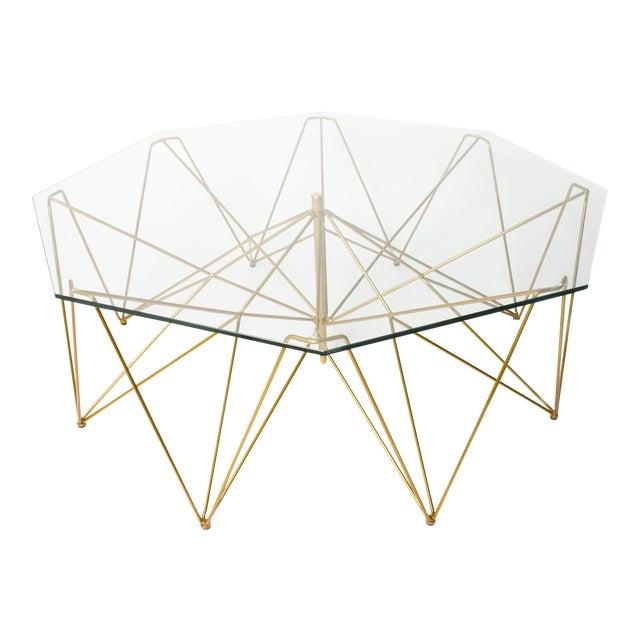 Sculptural Metal Coffee Table - Image 1 of 4