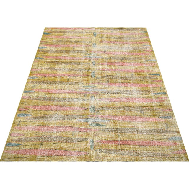 1960s 1960s Turkish Mid Century Modern Rug For Sale - Image 5 of 6