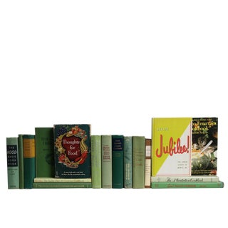 Midcentury Greens Kitchen Book Set, S/17 For Sale