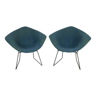 Harry Bertoia Diamond Chairs for Knoll / Girard Fabric -A Pair For Sale