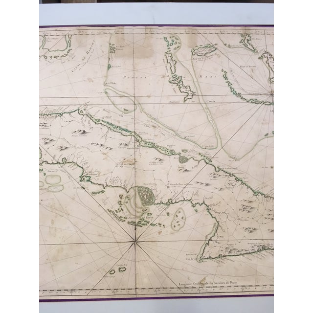 1762 Depot Des Cartes Carte Reduite De l'Isle De Cube Map of Cuba Hydrographical For Sale - Image 9 of 13