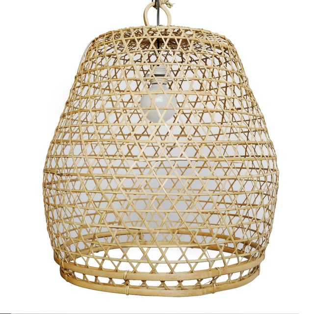 Contemporary Flat Top Fish Basket Lantern Large For Sale - Image 3 of 4