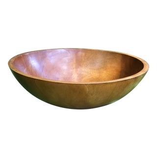 American Turned Treen Large Bowl For Sale