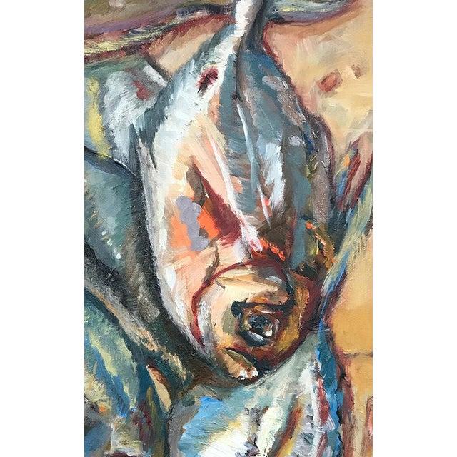 Paint Nancy T. Van Ness Crawfish Original Framed Oil Painting For Sale - Image 7 of 13