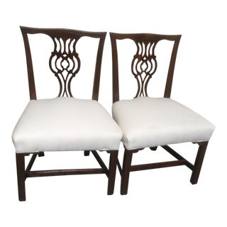 19th Century Americana Mahogany Side Chairs - a Pair For Sale