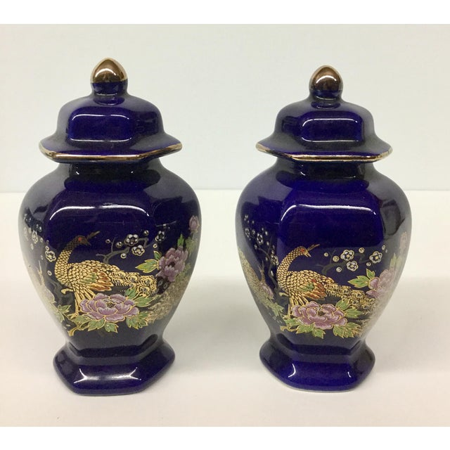 Mini Japanese Cobalt Ginger Jars - A Pair For Sale - Image 11 of 11