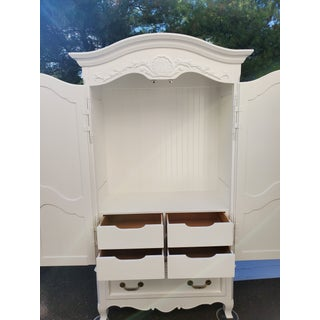 Vintage White Armoire Distressed Preview