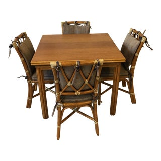 McGuire Table & Chairs For Sale